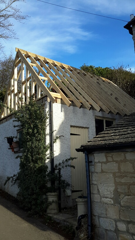 Converting A Flat Roof Garage To A Pitched Roof With
